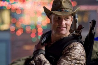Un primo piano di Woody Harrelson in Zombieland