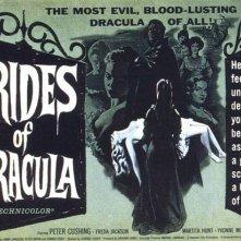 Una bella lobbycard promozionale del film Le spose di Dracula