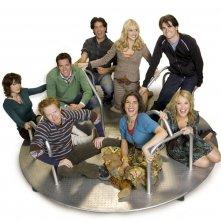 Il cast della serie The Class su una giostra per un'immagine promozionale