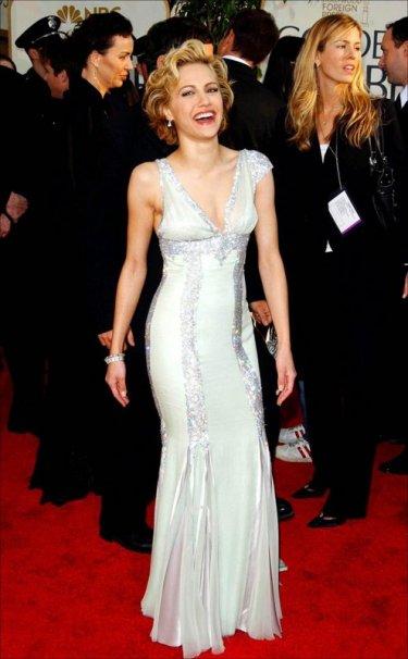 L'attrice Brittany Murphy ai Golden Globe Awards 2004