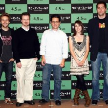 M. Reeves, D. Goddard, J.J. Abrams, M. S.-David e L. Caplan alla 'Cloverfield' Press Conference, a Tokyo, nel 2008