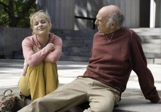 Evan Rachel Wood e Larry David in una scena del film Whatever Works, diretto da Woody Allen