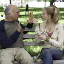 Larry David ed Evan Rachel Wood in un'immagine del film Whatever Works, diretto da Woody Allen