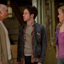 Larry David, John Gallagher Jr. ed Evan Rachel Wood in una scena del film Whatever Works, diretto da Woody Allen
