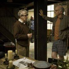 Woody Allen e Larry David sul set del film Whatever Works