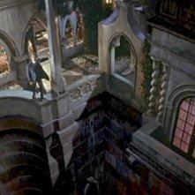 David Peel in una sequenza del film Le spose di Dracula (1960)
