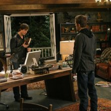 Ian Somerhalder e Paul Wesley in una scena di The Vampire Diaries