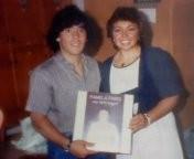 L'attrice e cantante napoletana Pamela Paris con Maradona