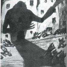 Locandina tedesca in bianco e nero del film Nosferatu