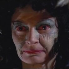 Un primo piano di Prudence Hyman nel film Lo sguardo che uccide