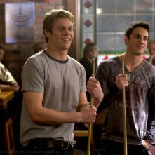 Zach Roerig e Michael Trevino in una scena di The Vampire Diaries