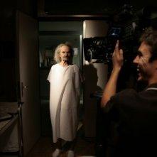 Carlo Rivolta da Vanzaghello sul set del film Tre lire - Primo giorno