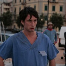 Fabrizio Veronese sul set del film Tre lire - Primo giorno