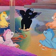 I cavalli volanti che fanno il bagno sulle note della Pastorale nel film Fantasia