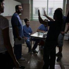 Una foto dal set del film Tre lire - Primo giorno