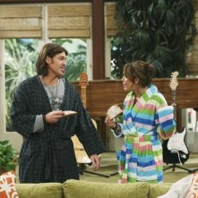 Billy Ray Cyrus e Miley Cyrus nell'episodio Miley Hurt the Feelings of the Radio Star di Hannah Montana