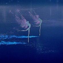 Le fatine dell'inverno che danzano sulle note dello Schiaccianoci nel film Fantasia
