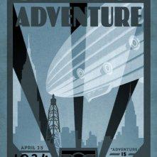 Uno degli 8 splendidi poster 'vintage' di Up, con il mitico 'Spirit of the Adventure'