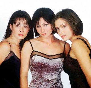 Un'immagine delle sorelle Halliwell: Doherty, Milano e Combs