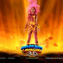 Un wallpaper del film The Adventures of Shark Boy & Lava Girl in 3-D, con Taylor Dooley