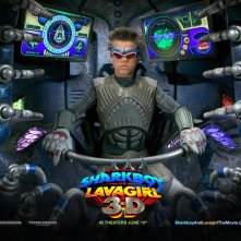 Un wallpaper del film The Adventures of Shark Boy & Lava Girl in 3-D, con Taylor Lautner