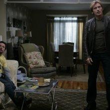 Denis Leary con la guest star Michael J. Fox nell'episodio Baptism di Rescue Me