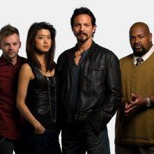 Il cast di The Cleaner in una foto promozionale della serie