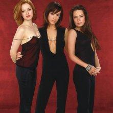 Phoebe(Alyssa Milano), Piper(Holly Marie Combs) e la sorellastra Paige(Rose McGowan) per il telefilm Streghe