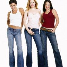 Le attrici: Rose McGowan, Alyssa Milano e Holly Marie Combs per la season 6 di Charmed