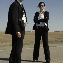 Bill Pullman e Julia Ormond in una scena del film Surveillance