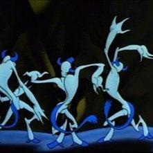 Il ballo di alcuni fantasmi nell\'episodio Una notte sul Monte Calvo nel film Fantasia