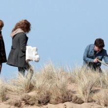 Rupert Grint, Emma Watson e Daniel Radcliffe sul set del film 'Harry Potter e i doni della morte - parte 1'