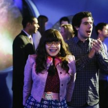 Daniel Eric Gold ed America Ferrera in una scena dell'episodio In the Stars di Ugly Betty