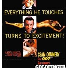 La locandina di Agente 007, missione Goldfinger