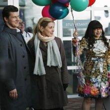 Sarah Lafleur, America Ferrera ed Eric Mabius nel finale della terza stagione di Ugly Betty
