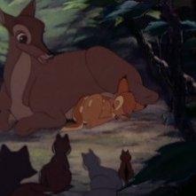 Una scena del film Bambi