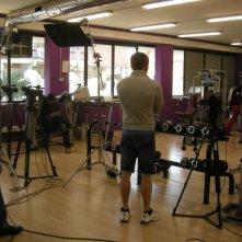 Una foto sul set della sit-com Gym Tonic Comedy