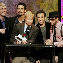 Il gruppo musicale Backstreet Boys, presenta il 'Favorite Pop/Rock Album Award' durante gli American Music Awards 2005, a Los Angeles