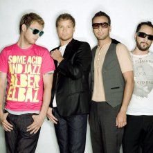 Un wallpaper del gruppo musicale Backstreet Boys con: Nick Carter, Brian Littrell, Howie Dorough e A.J. McLean