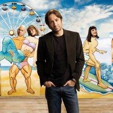 Un'immagine promozionale con il cast della 2 stagione della serie 'Californication'