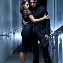 Un'immagine promozionale di Shannyn Sossamon e Alex O'Loughlin per il telefilm Moonlight