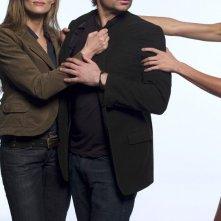 Una foto con David Duchovny e Natascha McElhone per la prima stagione di Californication