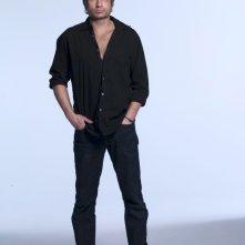 Una foto di David Duchovny con occhio nero per la prima stagione di Californication