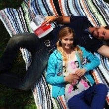 Raniero Monaco di Lapio insieme a Veronica Olivier nel film Amore 14, diretto da Federico Moccia