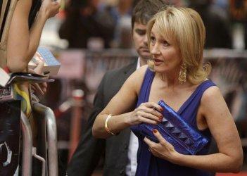 J.K Rowling durante la premiere londinese di Harry Potter e il Principe Mezzosangue