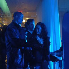 B.J. Britt (Rashard Rucker) e Tessa Thompson (Jackie) in una scena dell'episodio 'La svolta' di Veronica Mars