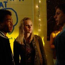 Percy Daggs III (Wallace), Kristen Bell (Veronica) e Michael Cera (Dean) nell'episodio 'L'amico del college' di Veronica Mars