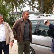 Antonio Catania e Claudio Amendola in una scena della serie tv Tutti per Bruno