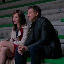 Ezio Greggio con Antonia Liskova nel film tv Occhio a quei due