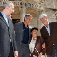 G8 2009 a L'Aquila: Stefania Pezzopane, Presidente della Provincia, insieme a Veltroni, George Clooney e Bill Murray